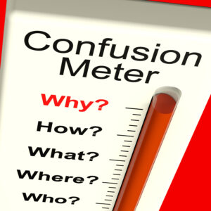 Confusion Meter Showing Indecision And Dilema